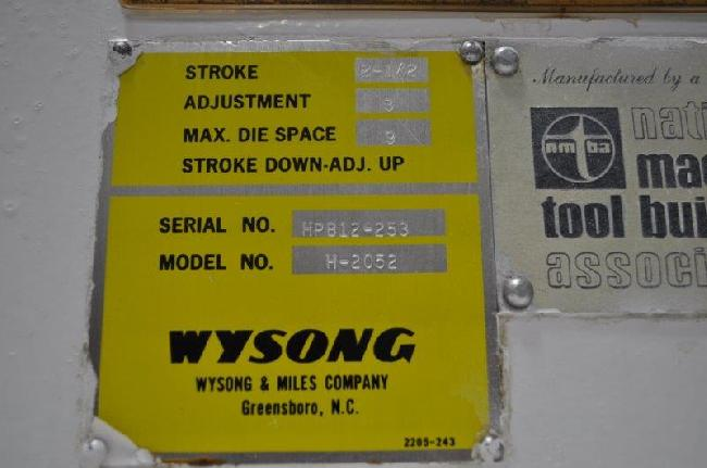 20 Ton Wysong Press Brake 15083J pic 6.jpg